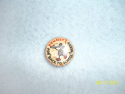Vintage Disney Pinback Button by M Pudlin Co Inc & JCPenney's Back to School
