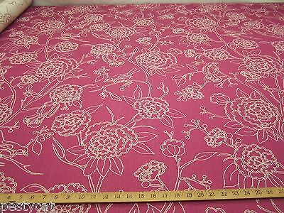 2 1/2 yards of Birds and Blooms Upholstery Fabric r9673