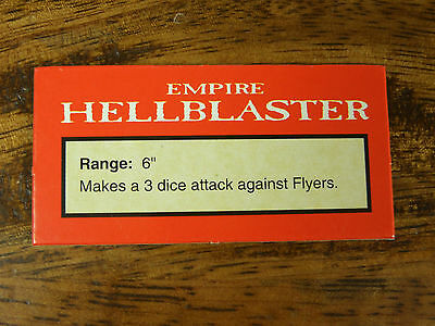Oop Man O War Empire Hellblaster Data Card Token (1011)
