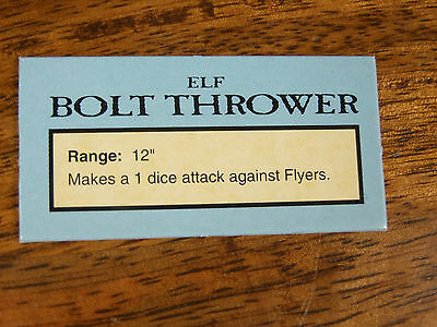 Oop Man O War Elf Bolt Thrower Data Card Token (1011)