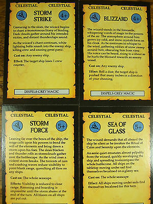 4 Oop Man O War Celestial Magic Cards (944)