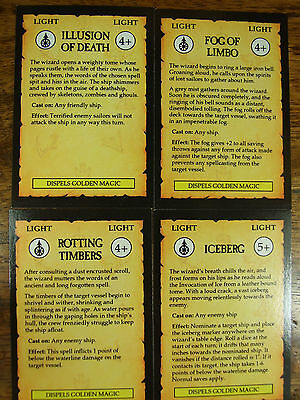 4 Oop Man O War Light Magic Cards (944)