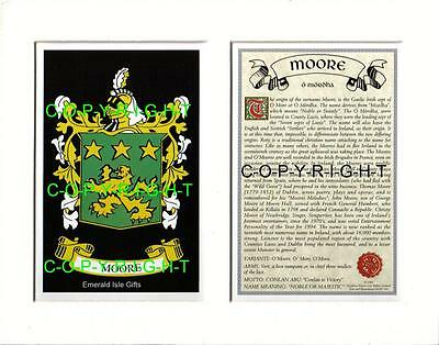 Moore Heraldic Mount Coat of Arms Family History and Crest