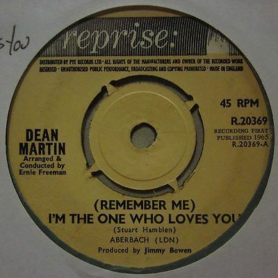 """Dean Martin(7"""" Vinyl 1st Issue)I'm The One Who Loves You-Reprise-R 20369-Ex/Ex"""