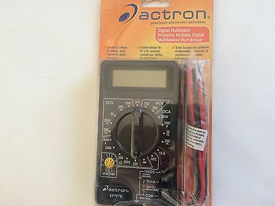 Actron CP7672 Multimeter, Digital, Tests Volts, Amps and Ohms