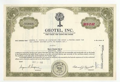 Geotel, Inc. Stock