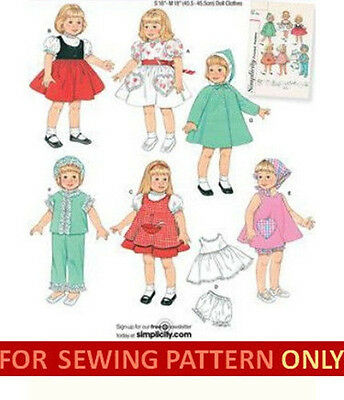 SEWING PATTERN! MAKE Doll Clothes! Fits American Girl Molly~Kit ...
