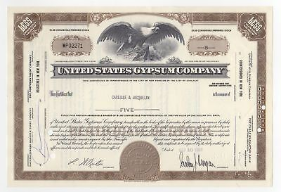 United States Gypsum Co. Stock Certificate