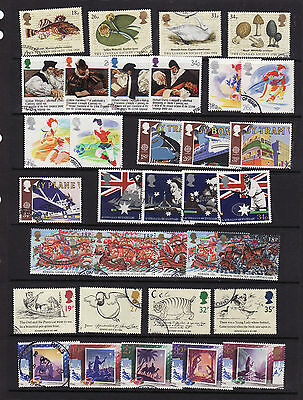 1980-1989  Used Commemorative Stamps In Year Sets