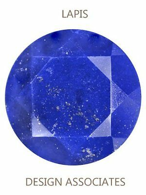 Lapis Faceted 15 Mm Round Cut All Natural Blue Gemstone