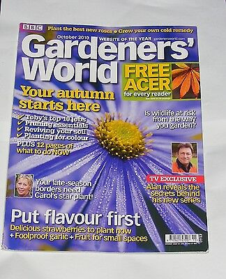 Gardeners' World October 2010 - Wildlife At Risk/strawberries/carol On Asters