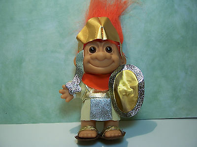 """SPARTACUS / SPARTY/ROMAN SOLDIER - 5"""" Russ Troll  Doll - NEW IN ORIGINAL WRAPPER"""