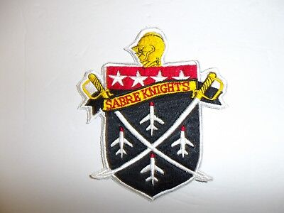 b2336 USAF Sabre Knights Demonstration Team small patch F-86 325 FIS IR19B