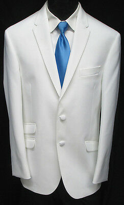 "New White ""The Situation"" Tuxedo Dinner Jacket Slim Fit Wedding Prom Cruise 44L"