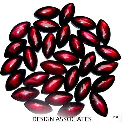 10x5 MM Cabochon Marquise Cut Red Garnet 2 Pc. Set