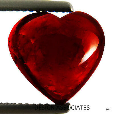 8 MM Cabochon Heart Cut Red Garnet 2 Pc. Set
