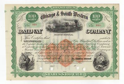 Chicago & South Western Railway Co. Stock Certificate