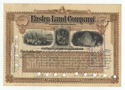 Ensley Land Company Stock Certificate