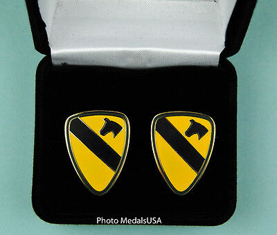 1st Cavalry Division Army Cufflinks in Presentation Gift Box cuff links