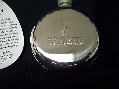 Remy Martin Mini Flask Stainless Steel Collectible Liquor & Whiskey Pouch New