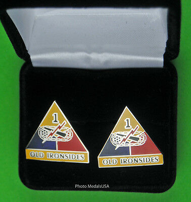 1st ARMORED DIVISION  Army Cuff Links  OLD IRONSIDES cufflinks