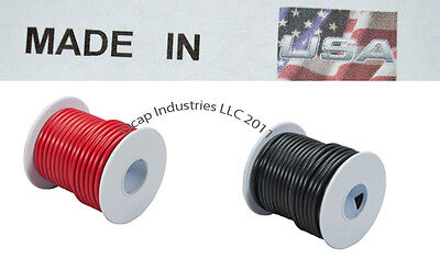 14 ga 100' FEET X 2 ROLLS PRIMARY WIRE RED AND BLACK INSULATED COPPER STRANDED