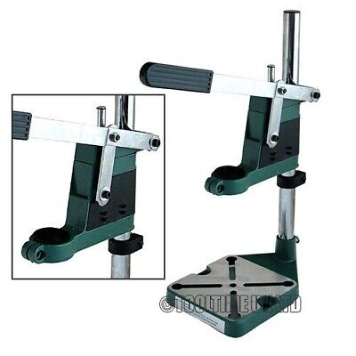 New Plunge Power Drill Press Stand Bench Pillar Pedestal Clamp With Depth Gauge