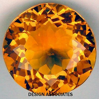 Natural Madeira Citrine 13 Mm Round Cut Vvs