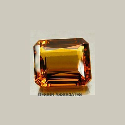 Natural Madeira Citrine 8X6 Mm Emerald Cut Vvs