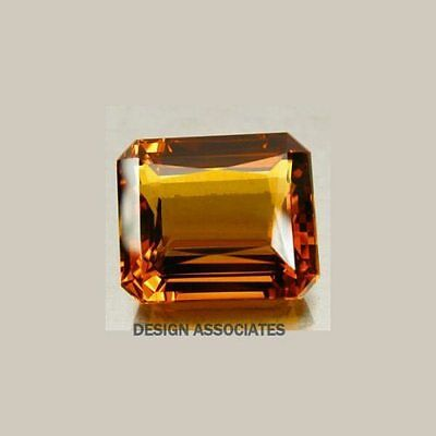 Natural Madeira Citrine 20X15 Mm Emerald Cut Vvs