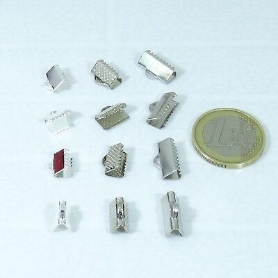 Lote Enganches Terminales Plateados A Elegir Clasps End Caps Perles Beads Silver