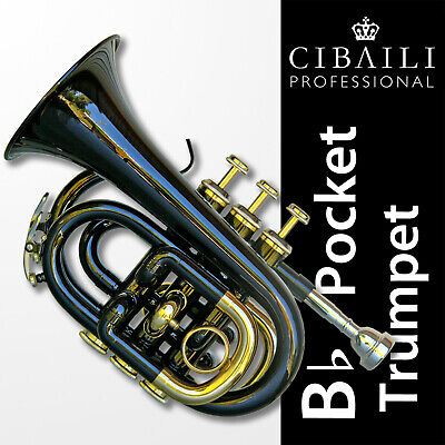 CIBAILI PURPLE Bb POCKET TRUMPET • Highest Quality Bb • BRAND NEW • With Case •