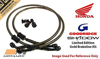 Goodridge GOLD For Honda Gl500Dc Silverwing82 Front SS Braided Brake Lines