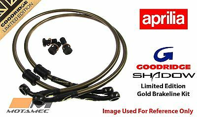 Goodridge GOLD Aprilia Tuono V4 R/APRC 11 Front SS Braided Brake Lines
