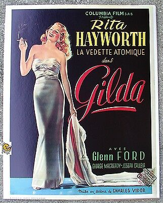 Gilda - Rita Hayworth Vintage Movie Poster Art Printed in The Netherlands F543