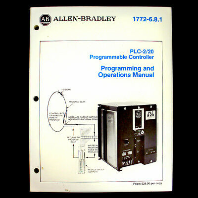 Allen Bradley PLC-2/20 Programmable Controller Programming & Operations Manual
