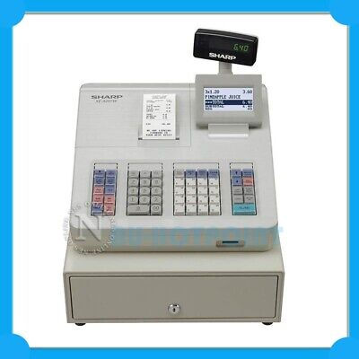 Sharp XE-A207W Heavy-Duty Cash Register+Draw with Logo Printing *WHITE* RRP$749
