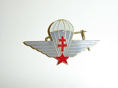 b2386 WW 2 Free French Parachute Wings Airborne beer can style