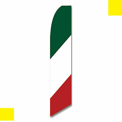Italy flag swooper banner feather