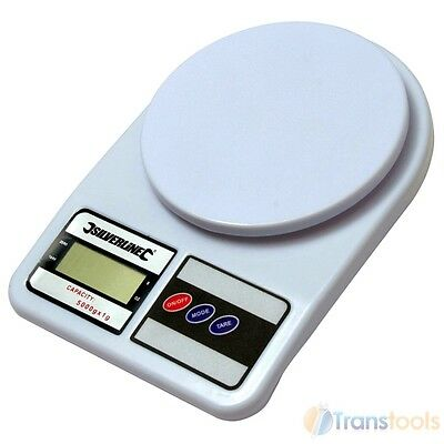 Silverline Digital Scales Metric & Imperial Max 5kg 11lb Battery Powered 651052