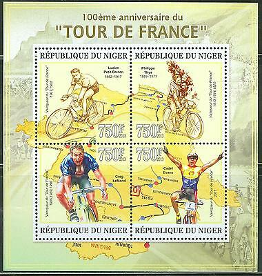 Niger 2013 100Th Anniversary Of The Tour De France Cycling Race Sheet