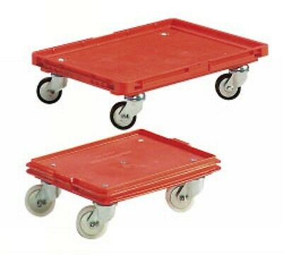 Eurokasten Transportroller Roll-Fix 600x400mm Rot