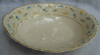 SYRACUSE CHINA SUZANNE OVAL VEGETABLE SERVING BOWL FEDERAL SHAPE FLORAL