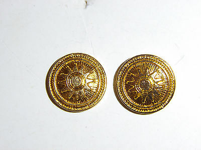 b2422 WW 2 Chinese Military side cap button pair