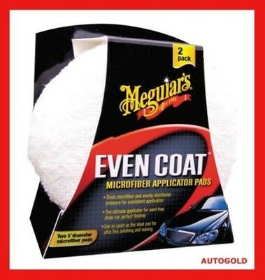 MEGUIARS Coppia Applicatori Even Coat Spugna Microfibra Professionale per Cera
