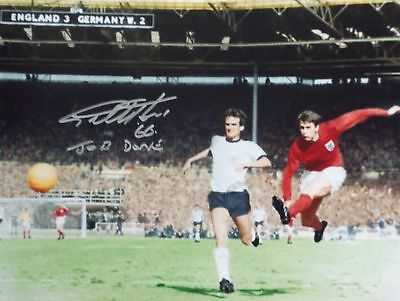 England 1966 World Cup Geoff Hurst Signed Photo Proof