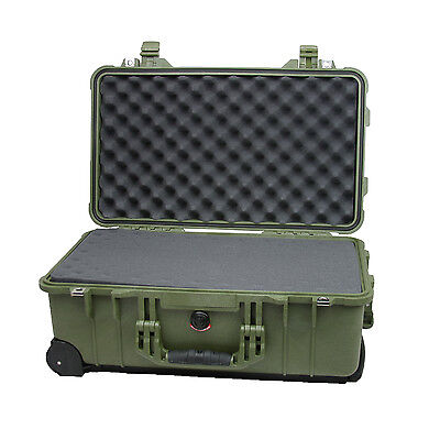 Pelican 1510  OD Green Case with Foam FAA Approved for Airlines