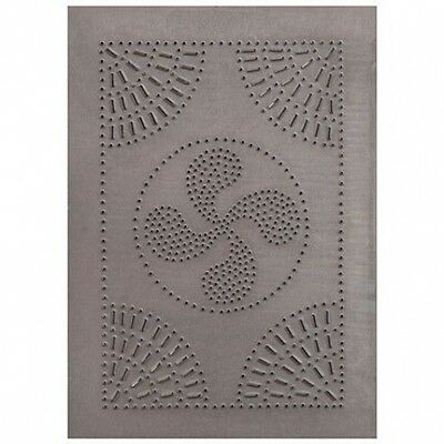 HOMESPUN blacken tin punched cabinet panel / 14 x10