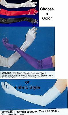 Over Elbow Bicep Length Opera Evening Gloves Raver Plur Costume Accessories
