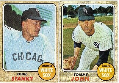 LOT OF 10 DIFFERENT HIGH GRADE 1968 TOPPS BASEBALL CHICAGO WHITE SOX CARDS